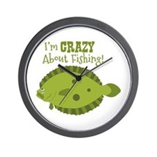 Im CRAZY About Fishing! Wall Clock