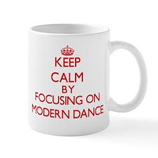 Keep calm by focusing on on Modern Dance Mugs