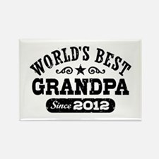 World's Best Grandpa Since 2012 Rectangle Magnet