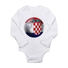 Croatia Football Long Sleeve Infant Bodysuit
