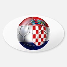 Croatian Football Sticker (Oval)
