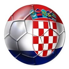 Croatian Football Round Car Magnet