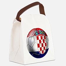Croatian Football Canvas Lunch Bag