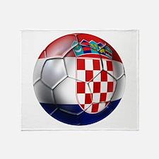 Croatian Football Throw Blanket