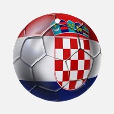 Croatian Football Ornament (Round)
