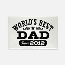 World's Best Dad Since 2012 Rectangle Magnet