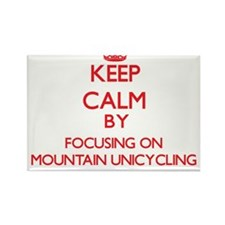 Keep calm by focusing on on Mountain Unicycling Ma