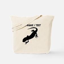 Custom Salamander Silhouette Tote Bag