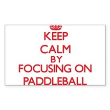 Keep calm by focusing on on Paddleball Decal