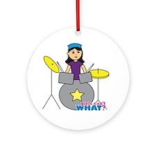 Drummer Medium Ornament (Round)