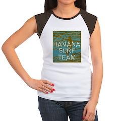 Havana Surf Team Wave Women's Cap Sleeve T-Shirt
