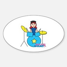 Drummer Light/Red Decal