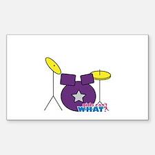 Drums Purple Decal