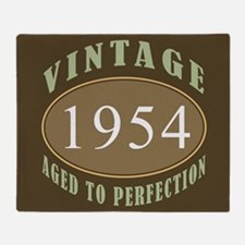 1954 Vintage (Brown) Throw Blanket