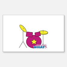 Drums Pink Decal