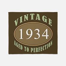 1934 Vintage (Brown) Throw Blanket