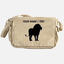 Custom Lion Silhouette Messenger Bag