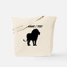 Custom Lion Silhouette Tote Bag