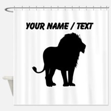 Custom Lion Silhouette Shower Curtain