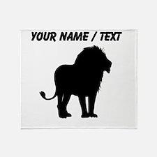 Custom Lion Silhouette Throw Blanket
