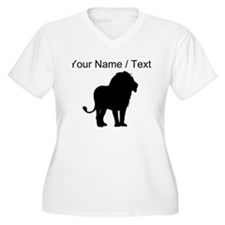 Custom Lion Silhouette Plus Size T-Shirt