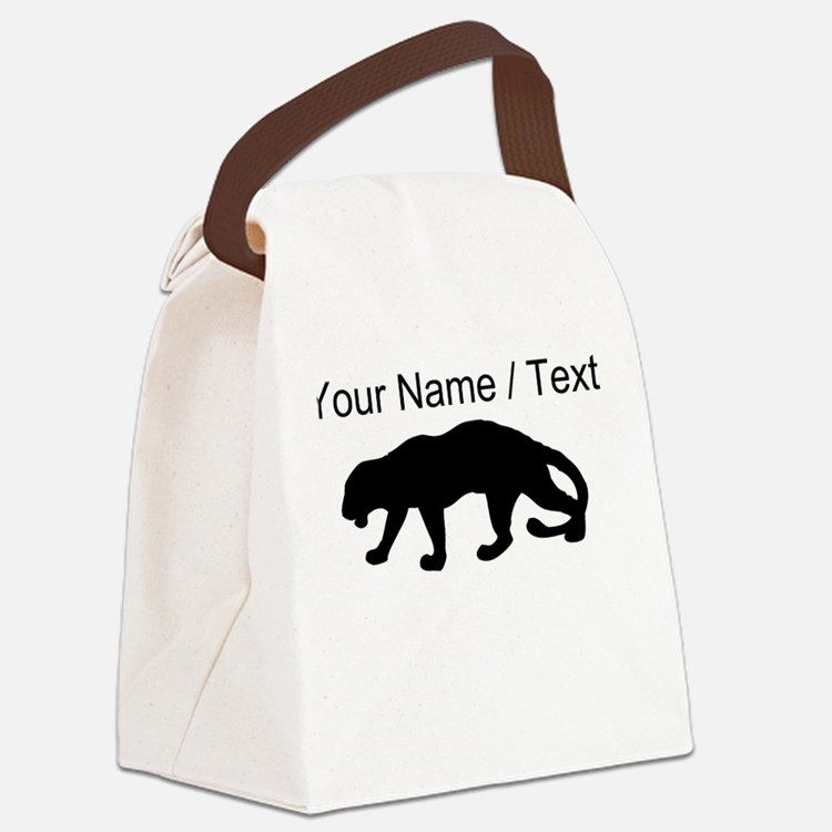 Custom Panther Silhouette Canvas Lunch Bag