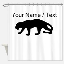 Custom Panther Silhouette Shower Curtain