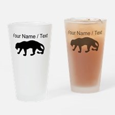 Custom Panther Silhouette Drinking Glass