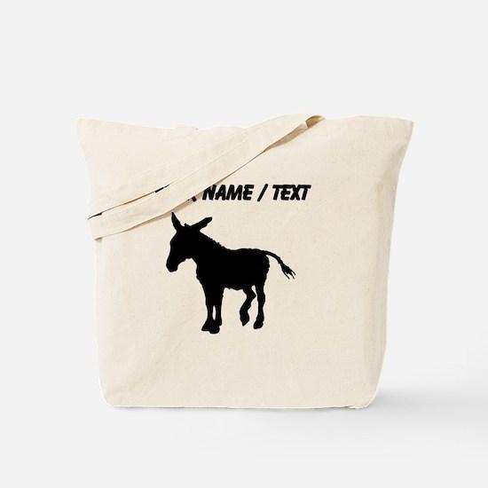 Custom Donkey Silhouette Tote Bag