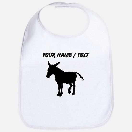 Custom Donkey Silhouette Bib