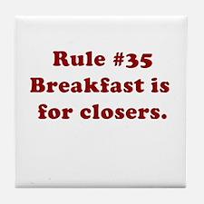 Rule #35 Tile Coaster
