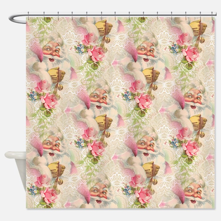 Pink Christmas Shower Curtains Pink Christmas Fabric