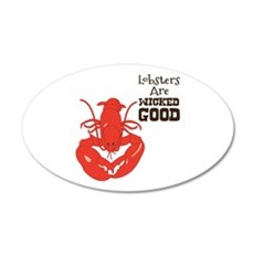 Lobsters Are WICKED GOOD Wall Decal