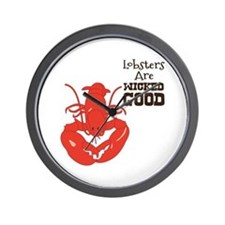 Lobsters Are WICKED GOOD Wall Clock