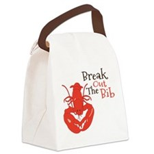 Break Out The Bib Canvas Lunch Bag