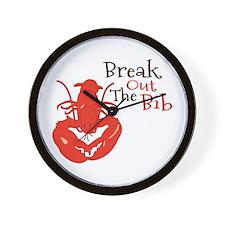 Break Out The Bib Wall Clock