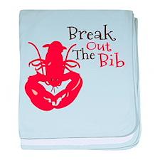Break Out The Bib baby blanket