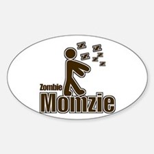 Zombie Momzie Oval Decal