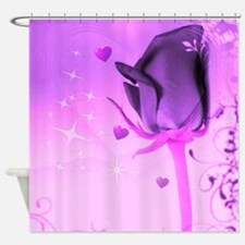 rose and love purple Shower Curtain