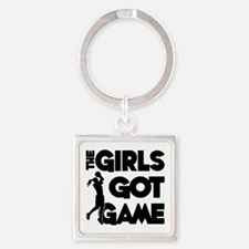 GOT GAME, B-BALL Square Keychain
