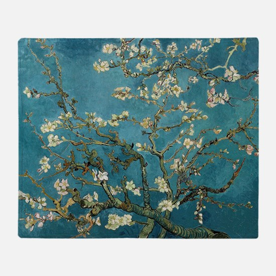 Almond Blossoms Throw Blanket