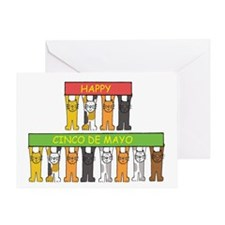 Cats Happy Cinco De Mayo Greeting Card