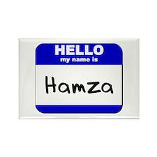 hello my name is hamza Rectangle Magnet