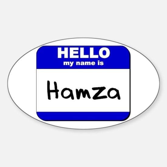 hello my name is hamza Oval Decal