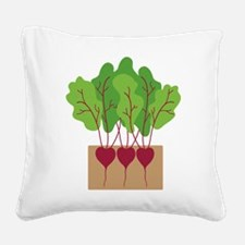 Beets Square Canvas Pillow