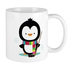 Hockey Christmas Penguin Mug