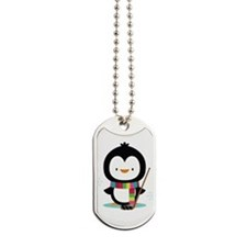 Hockey Christmas Penguin Dog Tags