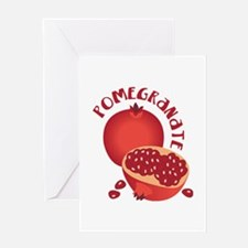 POMEGRANATE Greeting Cards