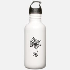 cute Spider in a web Sports Water Bottle