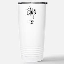 cute Spider in a web Travel Mug